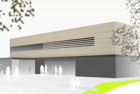 Mehrzweckhalle hermann architektur - Architektur kubus ...