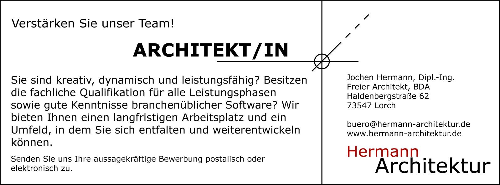 stellenangebote hermann architektur On stellenangebote architekt